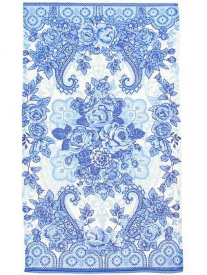 Полотенце вафельное 2 шт., Краса, 33*60 см Радужки. Цвет: голубой