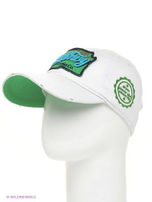Бейсболка Maxval. Цвет: белый, зеленый
