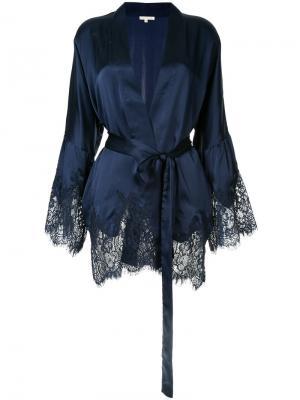 Кружевной пиджак с фестонами Gold Hawk. Цвет: синий