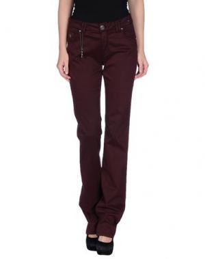 Повседневные брюки MARANI JEANS. Цвет: баклажанный
