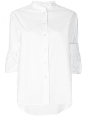 Рубашка с подвернутыми манжетами Odeeh. Цвет: белый