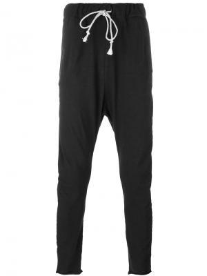 Спортивные брюки с заниженной проймой Poème Bohémien. Цвет: чёрный