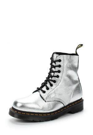 Ботинки Dr. Martens. Цвет: серебряный