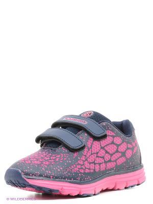 Кроссовки Flamingo. Цвет: синий, розовый