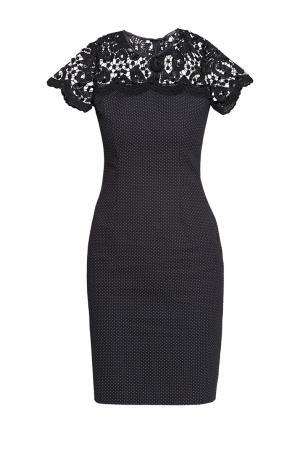 Платье из хлопка с кружевом  186256 Cristina Effe. Цвет: монохром