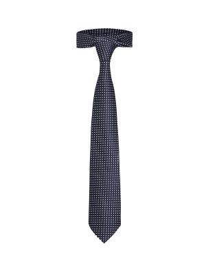 Классический галстук По улицам Нью Йорка с модным принтом Signature A.P.. Цвет: темно-синий, белый, черный