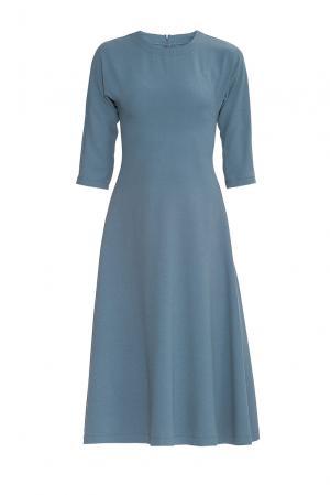 Платье из искусственного шелка с вискозой 175922 Cyrille Gassiline. Цвет: синий