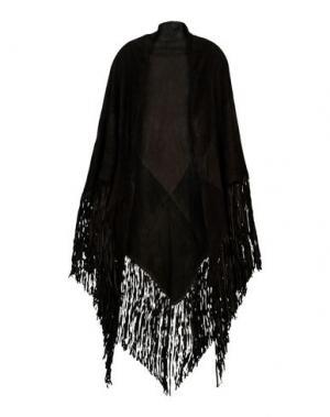 Шаль ALMA ROSA FUR. Цвет: темно-коричневый