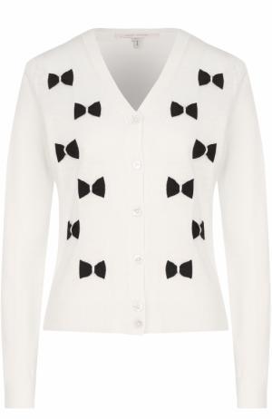 Шерстяной кардиган с декоративной отделкой Marc Jacobs. Цвет: кремовый