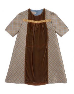 Платье LA STUPENDERIA. Цвет: верблюжий