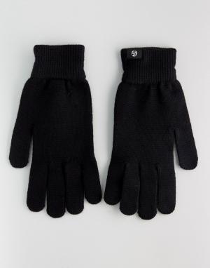 PS Paul Smith Черные перчатки из мериносовой шерсти. Цвет: черный