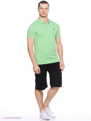 Футболка-поло U.S. Polo Assn.. Цвет: зеленый, салатовый