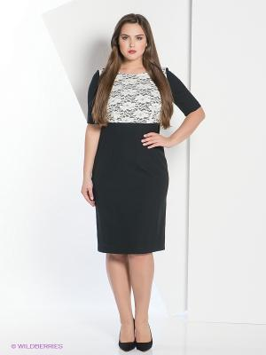 Платье Oodji. Цвет: черный