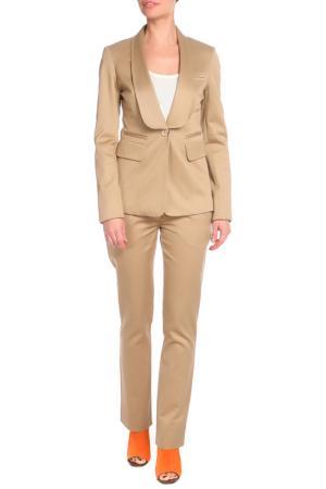 Костюм: пиджак, брюки GF FERRE. Цвет: бежевый