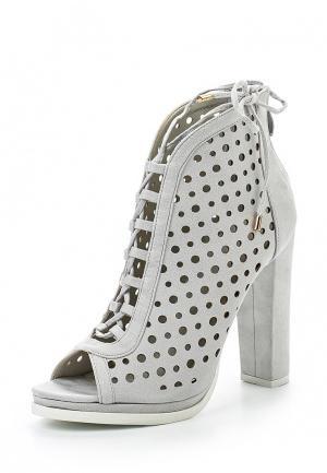 Ботильоны Sweet Shoes. Цвет: серый