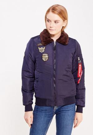 Куртка Jimmy Sanders. Цвет: синий