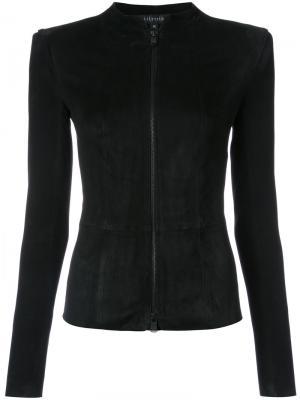 Приталенная куртка Jitrois. Цвет: чёрный