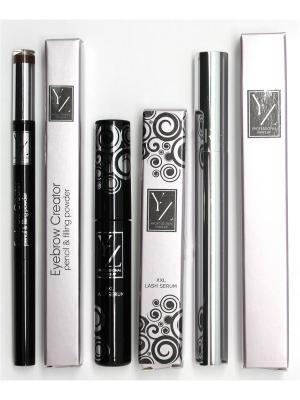 Промо-набор  декоративной косметики YZ (тушь+сыворотка+карандаш для бровей) ИЛЛОЗУР. Цвет: коричневый, прозрачный, черный