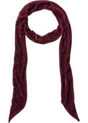 Длинный бархатный платок (темно-красный) bonprix. Цвет: темно-красный