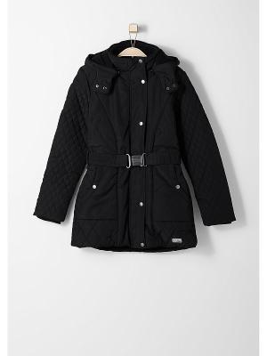Пальто S.OLIVER. Цвет: черный
