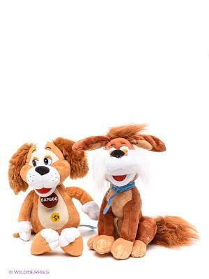 Набор из 2-х мягких игрушек Мульти-пульти, барбос 20см + бобик Мульти-пульти. Цвет: коричневый, белый