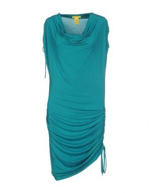 Короткое платье CATHERINE MALANDRINO. Цвет: бирюзовый