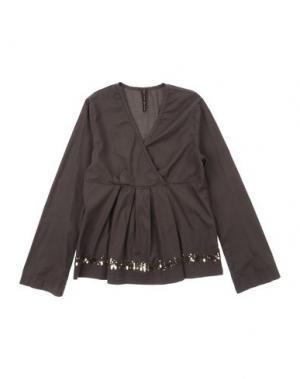 Блузка MANILA GRACE. Цвет: темно-коричневый