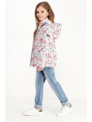 Куртка Finn Flare. Цвет: розовый, серый