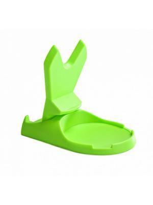 Подставка для крышки и ложки зеленая ПОМОГАЙКА BRADEX. Цвет: салатовый