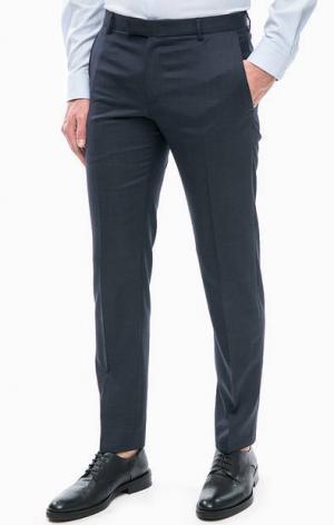Классические брюки из шерсти Strellson. Цвет: синий