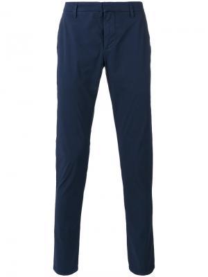 Зауженные брюки Dondup. Цвет: синий