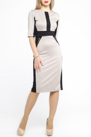 Платье Majaly. Цвет: бежевый