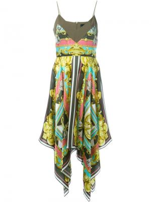 Платье с комбинированным принтом Marco Bologna. Цвет: none