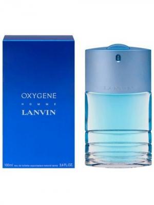 Oxigen homme edt 100 ml LANVIN. Цвет: синий