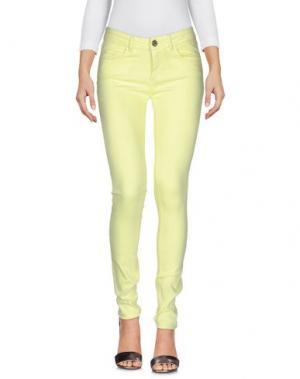 Джинсовые брюки MAISON ESPIN. Цвет: светло-желтый