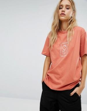 Maharishi Oversize-футболка с вышивкой. Цвет: желтый