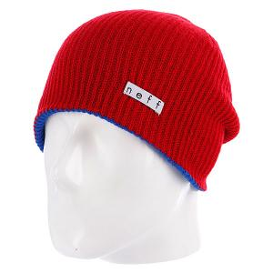 Шапка носок  Daily Reversible Blue/Red Neff. Цвет: красный,синий