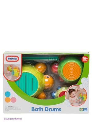 Игрушка для ванны Черепашки-барабаны Little Tikes. Цвет: зеленый, красный, оранжевый