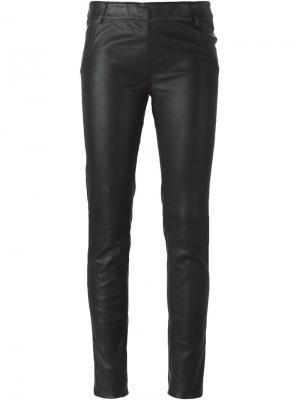 Кожаные брюки Goosecraft. Цвет: чёрный