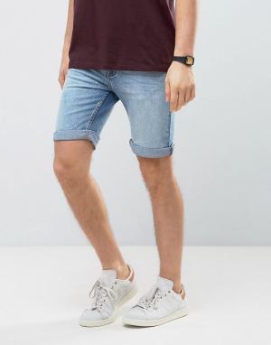 Burton Menswear Джинсовые шорты скинни. Цвет: синий