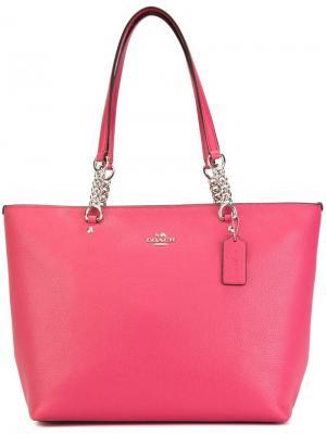 Сумка-тоут Dahlia Coach. Цвет: розовый и фиолетовый