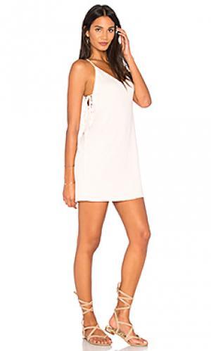 Платье с завязкой сбоку Lanston. Цвет: розовый