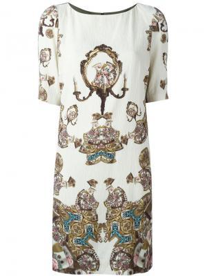 Платье с абстрактным принтом Antonio Marras. Цвет: зелёный