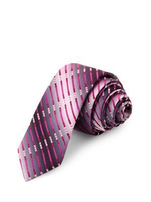 Галстук CASINO. Цвет: серый, лиловый, малиновый