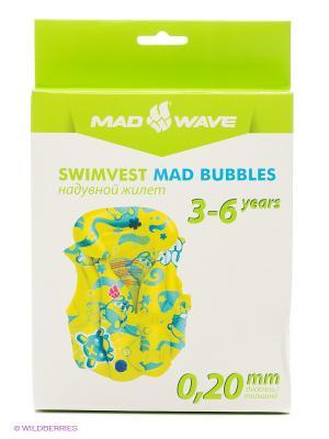 Плавательный жилет Swimvest Mad Bubbles Wave. Цвет: салатовый