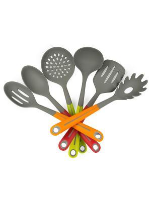 Набор кухонных аксессуаров OURSSON. Цвет: оранжевый, зеленый, красный