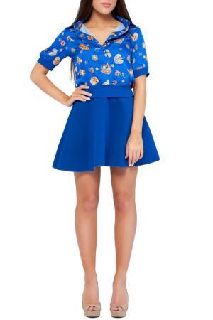 Рубашка Majaly. Цвет: синий, принт
