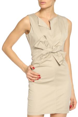 Платье Pois. Цвет: бежевый