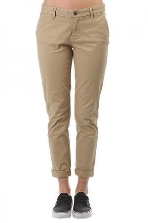 Штаны прямые женские  Keith Desert Khaki Element. Цвет: бежевый