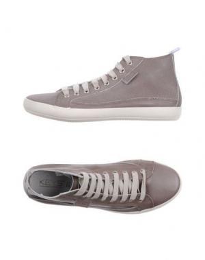 Высокие кеды и кроссовки KEYS. Цвет: серый